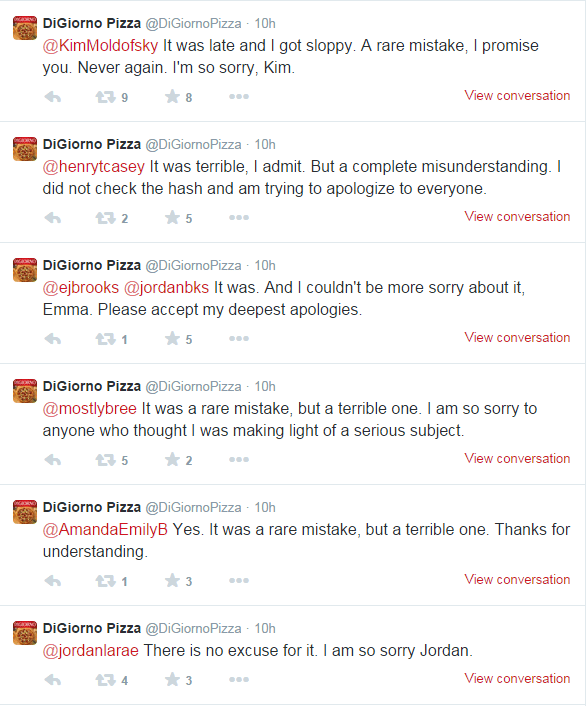 DiGiorno Bad Social Media Marketing Examples: Personal Apologies