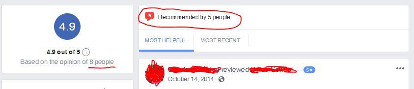 Facebook Business Reviews
