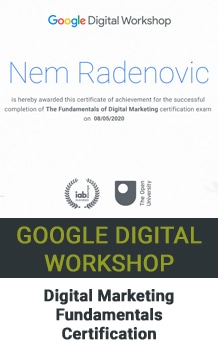 Nem Digital Marketing Strategist Digital Marketing Certificate