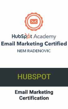Nem Digital Marketing Strategist HubSpot Email Certificate